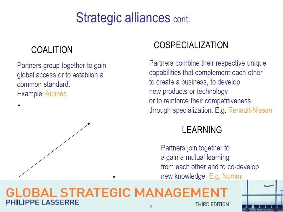 3 Strategic alliances cont.