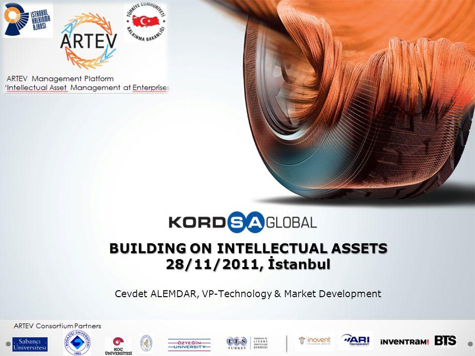 BUILDING ON INTELLECTUAL ASSETS 28/11/2011, İstanbul Cevdet ALEMDAR, VP-Technology & Market Development