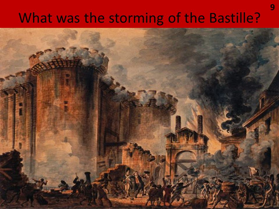 What was the storming of the Bastille 9