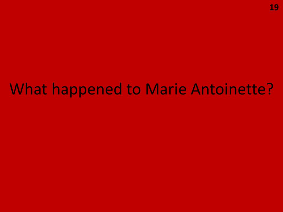 What happened to Marie Antoinette? 19