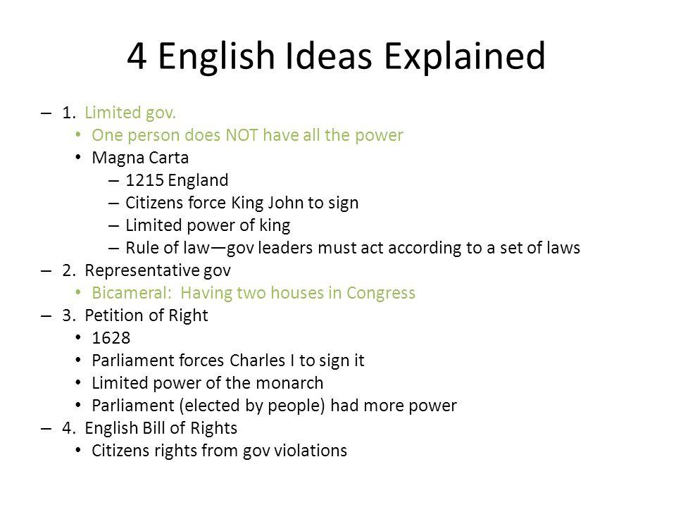 4 English Ideas Explained – 1. Limited gov.