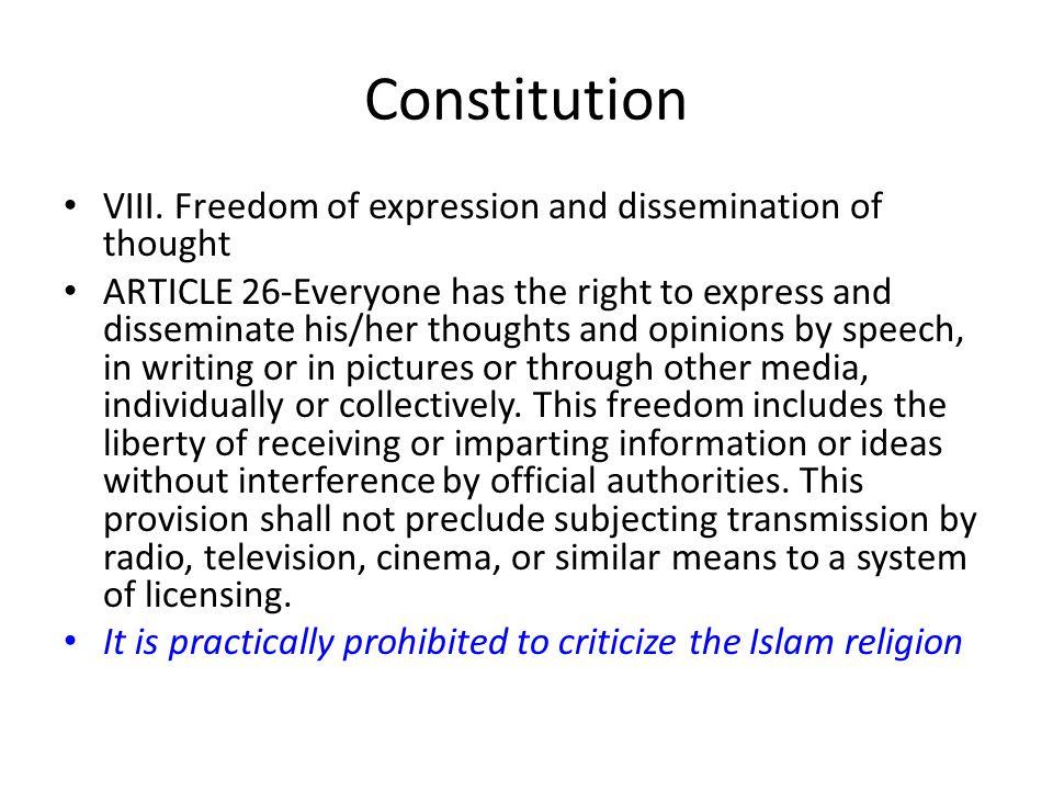 Constitution VIII.