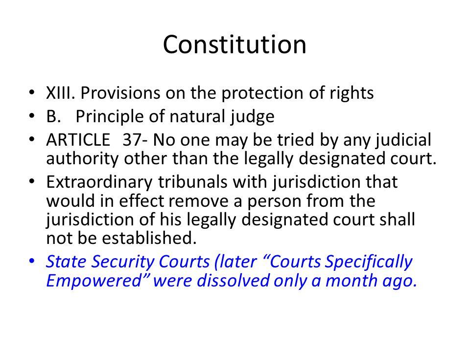 Constitution XIII.