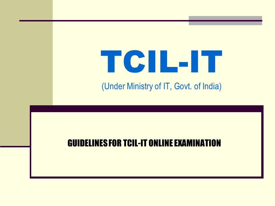 1.Login to TCIL-IT exam site (www.tcilitexams.com)www.tcilitexams.com 2.