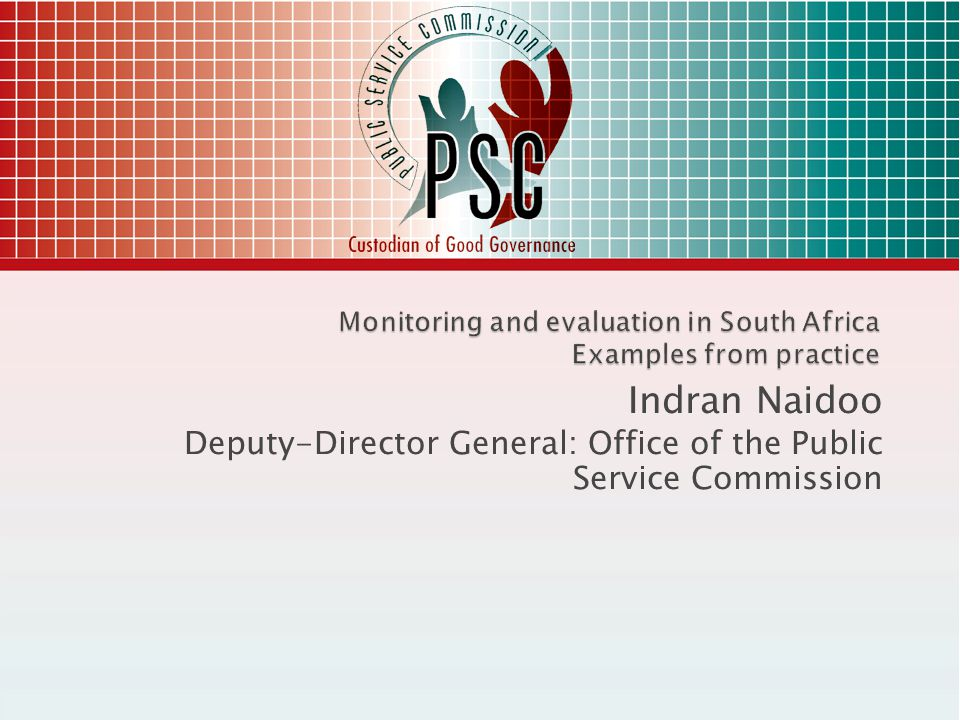 Grievances Recourse to PSC to adjudicate grievances which has exhausted internal processes Knowledge generations Sharing M&E reports in seminars, workshops, networks Amplifying work of SAMEA, IDEAS, IPDET Capacity building Support training initiatives 42