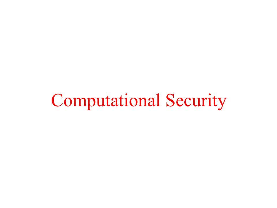 Computational Security