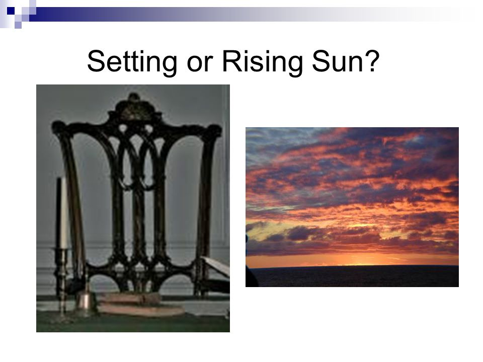 Setting or Rising Sun