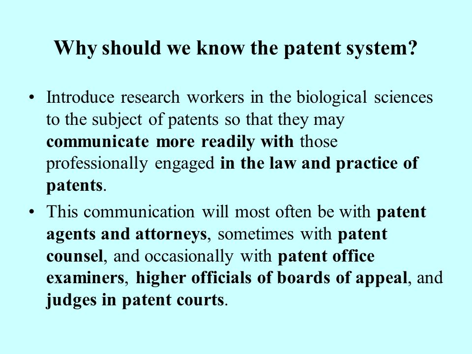 Whether patent rights or know-how is more important.
