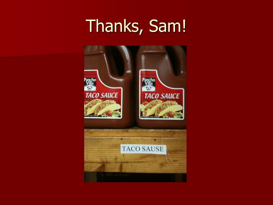 Thanks, Sam!