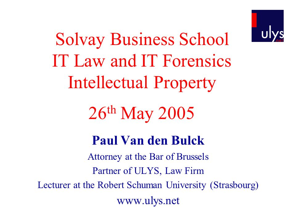 Scope of the Presentation  What is Intellectual Property.