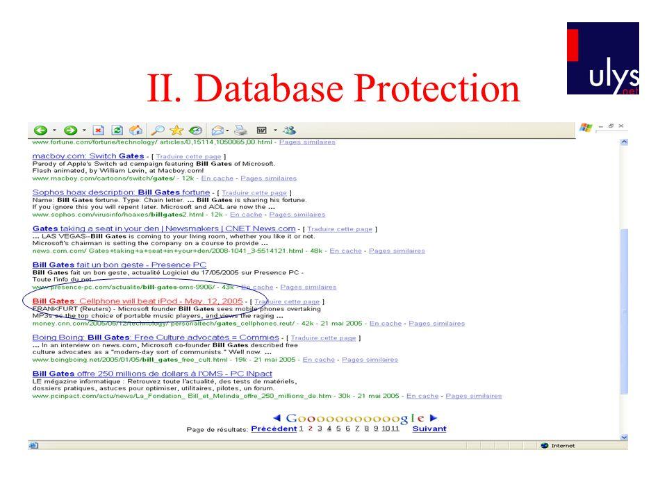 II. Database Protection