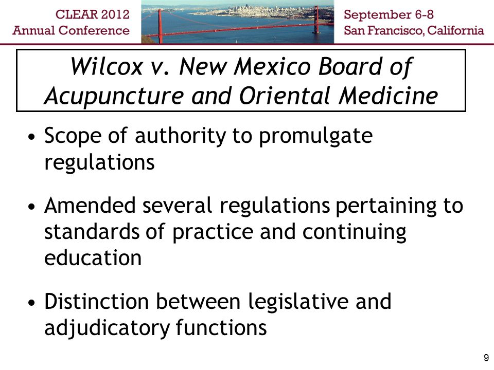 10 Wilcox- Board Position No law requiring the Board to provide reasoning for adopting regulations Existing legal requirement for a state agency to include a statement of reasons for its decisions does not apply to legislative functions
