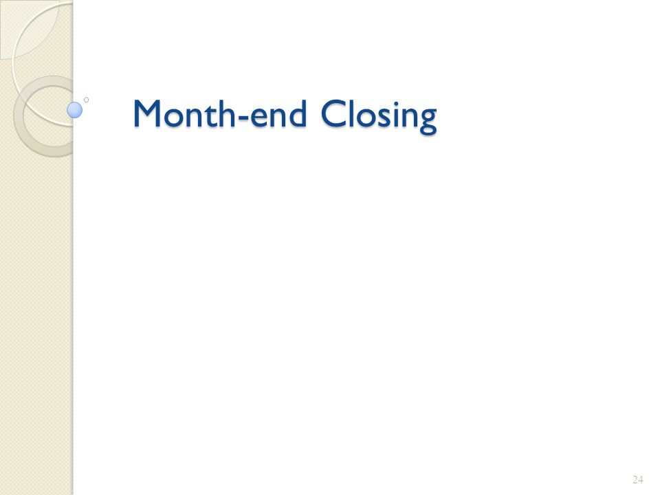 Month-end Closing 24