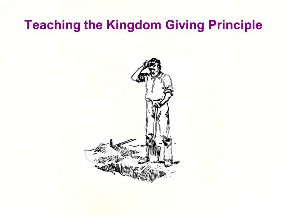 Teaching the Kingdom Giving Principle