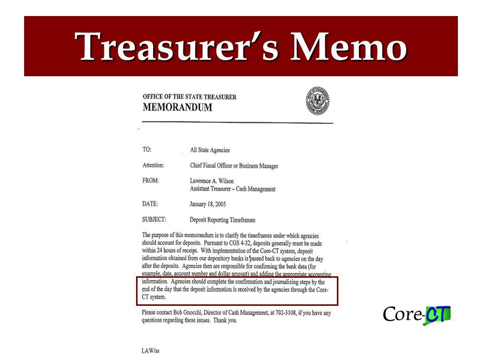 Treasurer's Memo