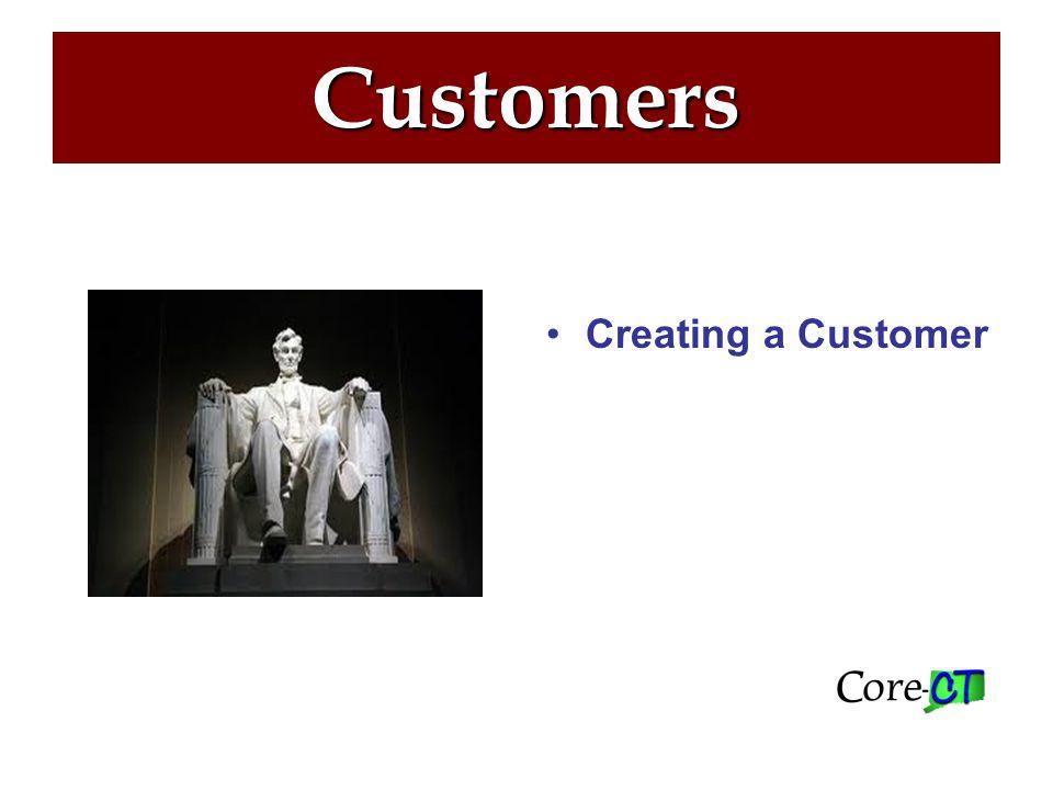 Customers Creating a Customer