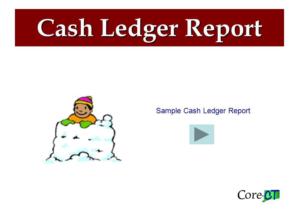 Cash Ledger Report Sample Cash Ledger Report