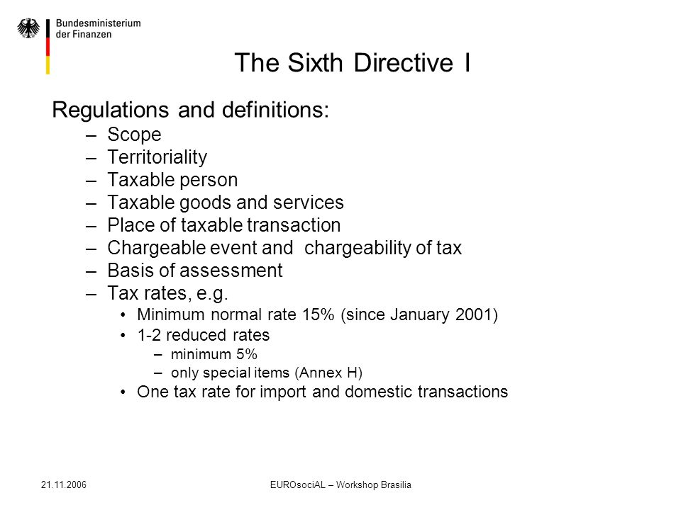 21.11.2006EUROsociAL – Workshop Brasilia Development of Excise Duties and VAT as Share in Revenue of Excise Taxes