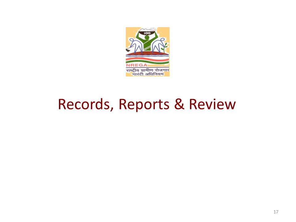 Records, Reports & Review 17