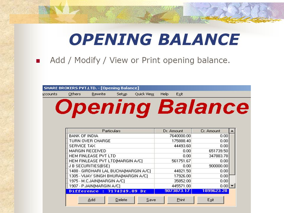 BALANCE SHEET View / print balance sheet.