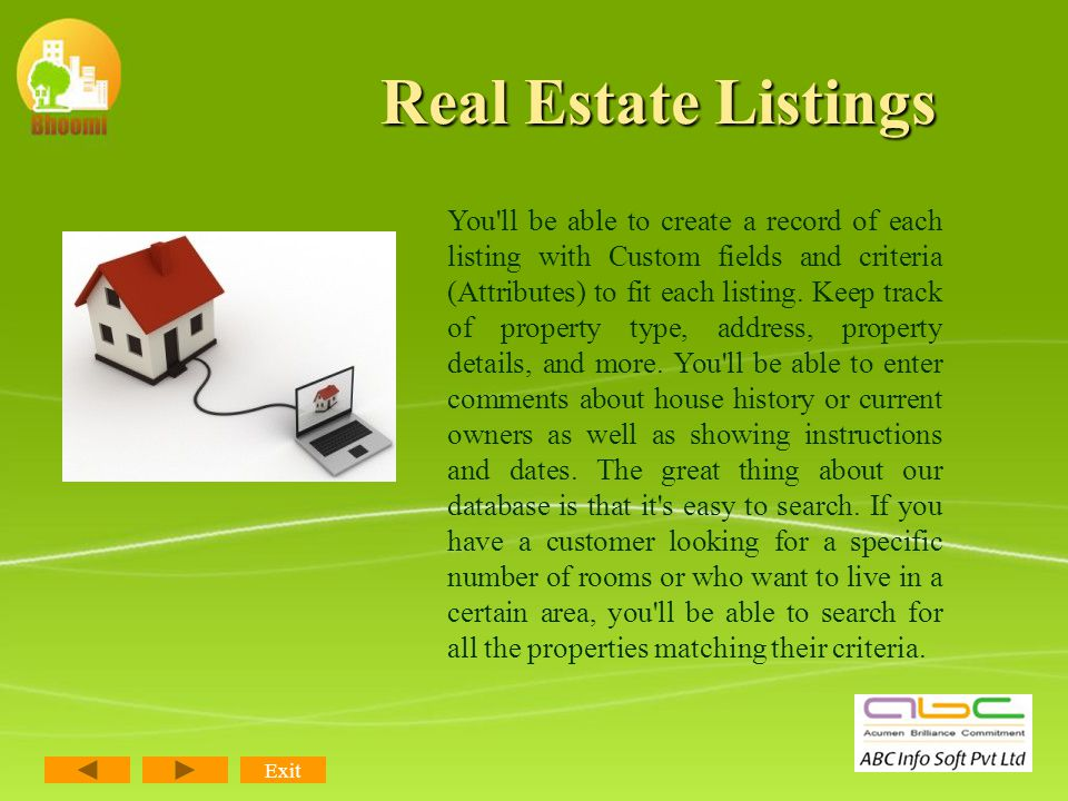 Modules of RealPro CRM Real Estate Listings Leads/ Enquiries Management Booking Details Brokerage Management Centralized Database Dashboard/ Customiza