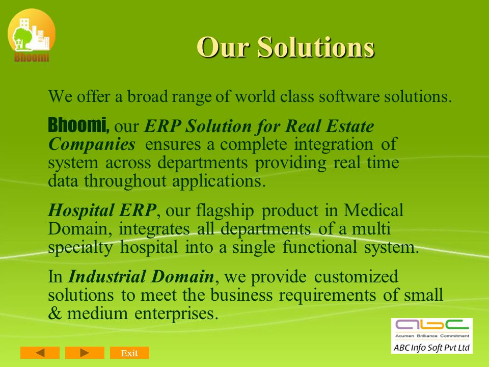 Modules of RealPro CRM Real Estate Listings Leads/ Enquiries Management Booking Details Brokerage Management Centralized Database Dashboard/ Customizable MIS Role-based User Access – Security Administration Exit