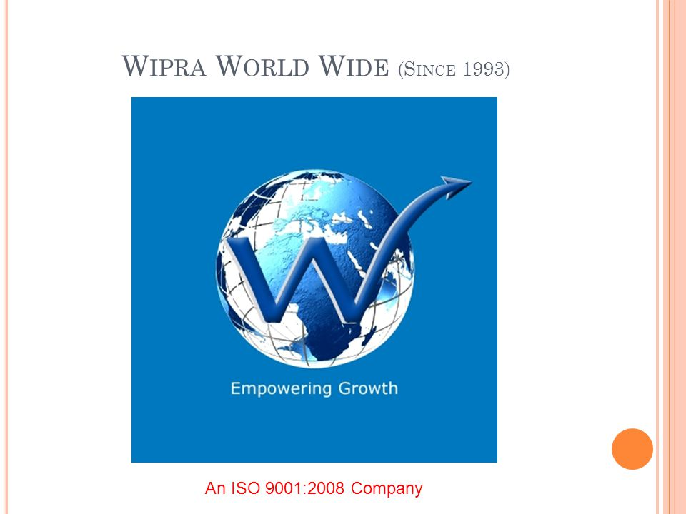 W IPRA W ORLD W IDE (S INCE 1993) An ISO 9001:2008 Company