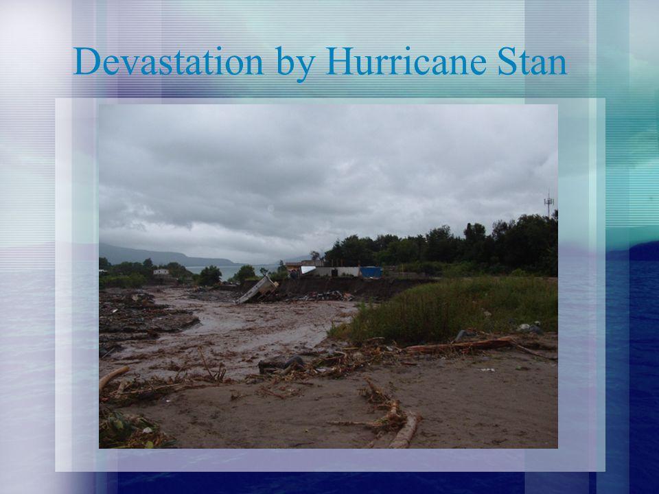 Devastation by Hurricane Stan