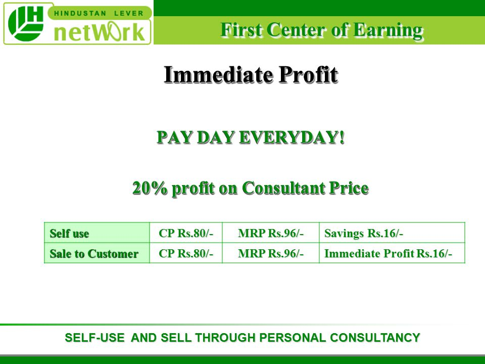 First Center of Earning Immediate Profit PAY DAY EVERYDAY.
