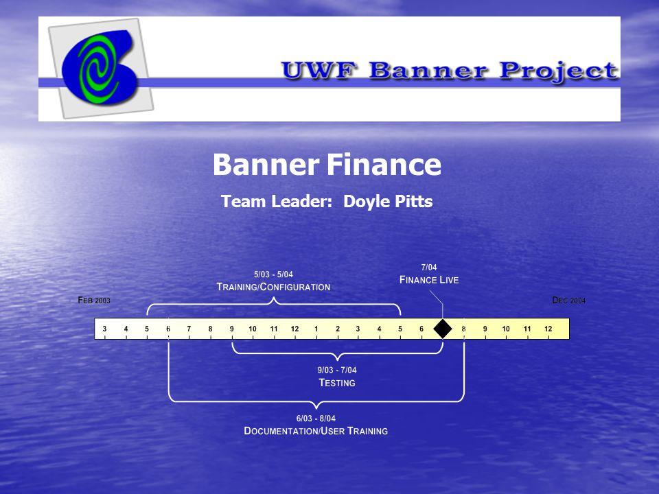 Banner Finance Team Leader: Doyle Pitts