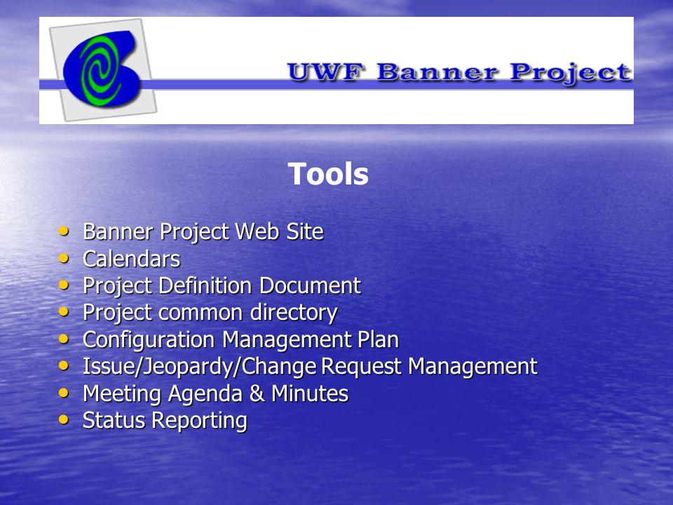 Banner Project Web Site Banner Project Web Site Calendars Calendars Project Definition Document Project Definition Document Project common directory P