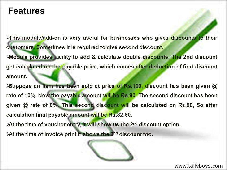  This module/add-on is very useful for businesses who gives discounts to their customers.