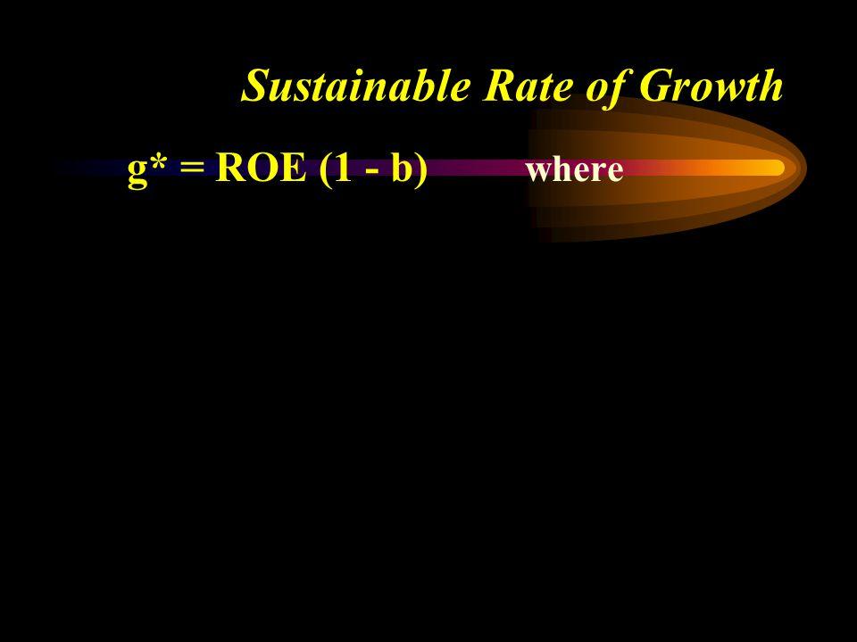 g* = ROE (1 - b) where