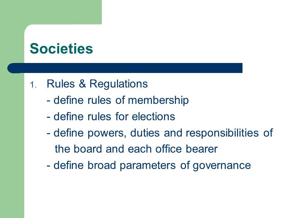 Societies 1.