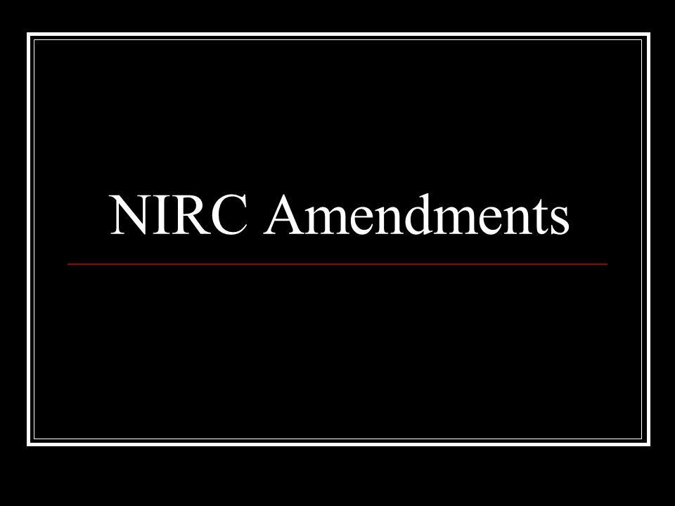 NIRC Amendments