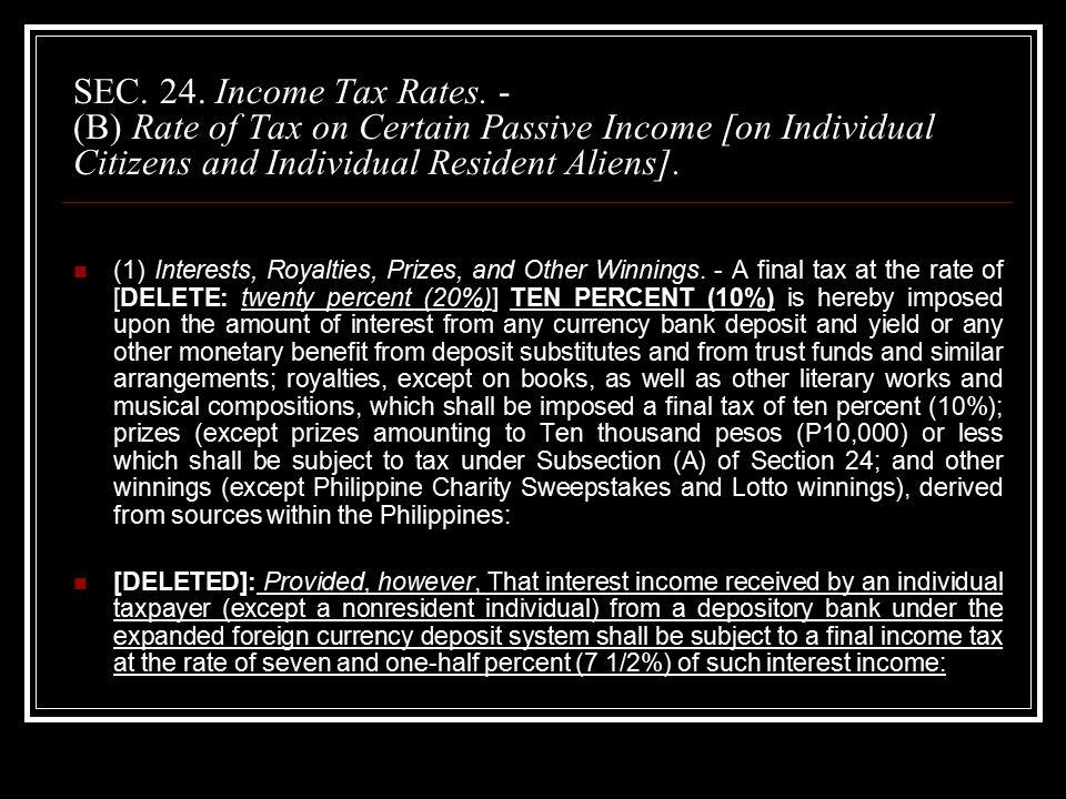 SEC. 24. Income Tax Rates.