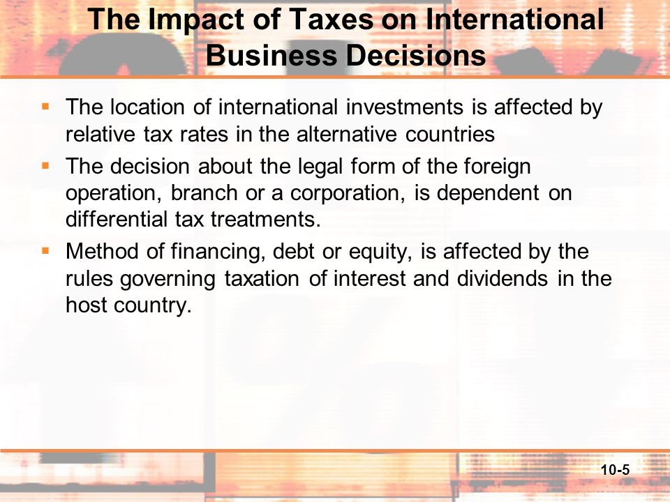 10-16 Foreign Tax Credit (FTC) Background – Solutions to double taxation  One solution is for a country to adopt the territorial approach.