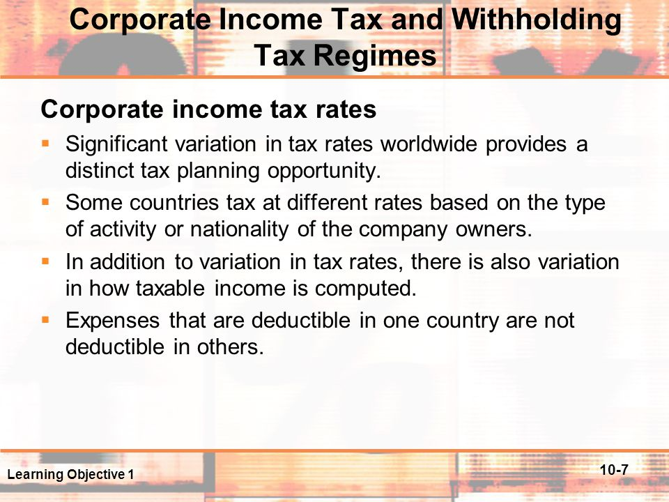 10-18 Foreign Tax Credit (FTC) FTC – Example  Assume that GCO is a U.S.