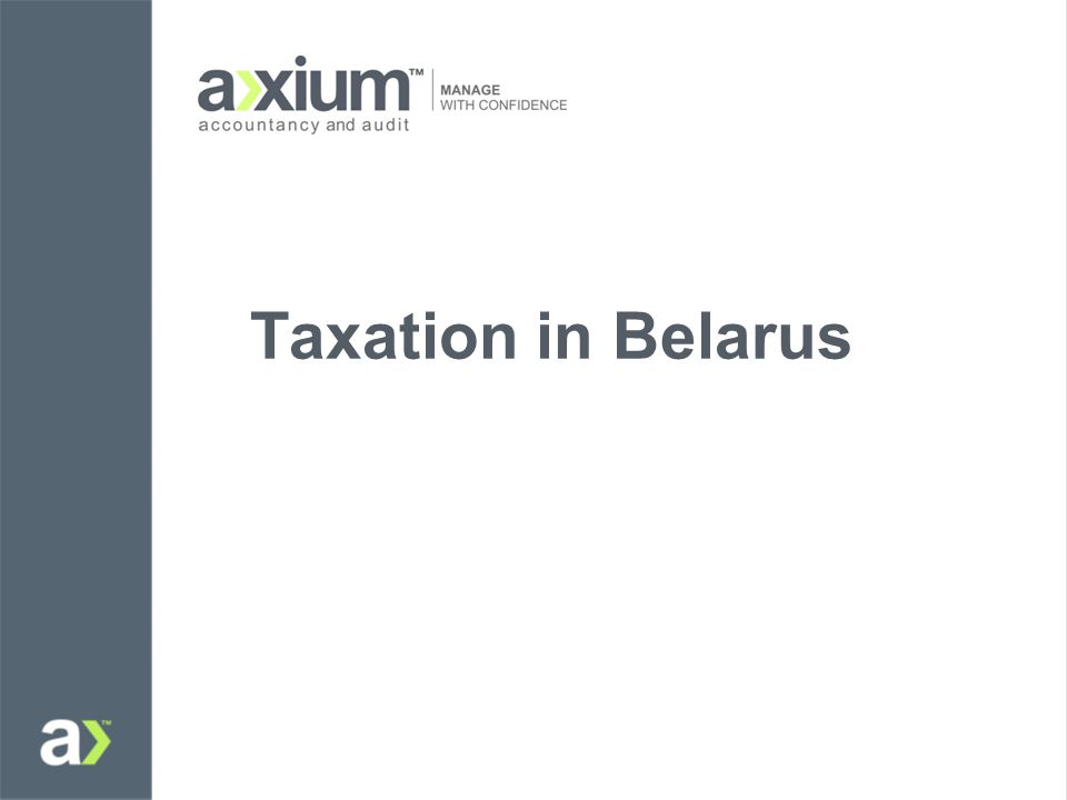 Taxation in Belarus