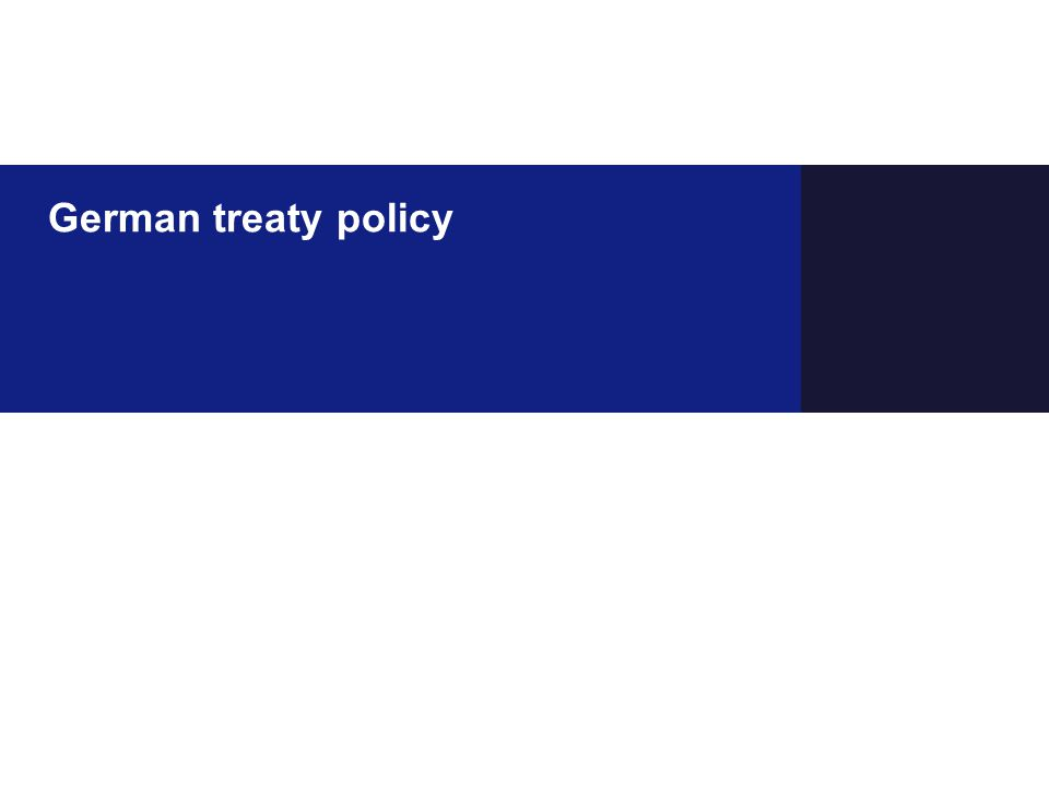German treaty policy