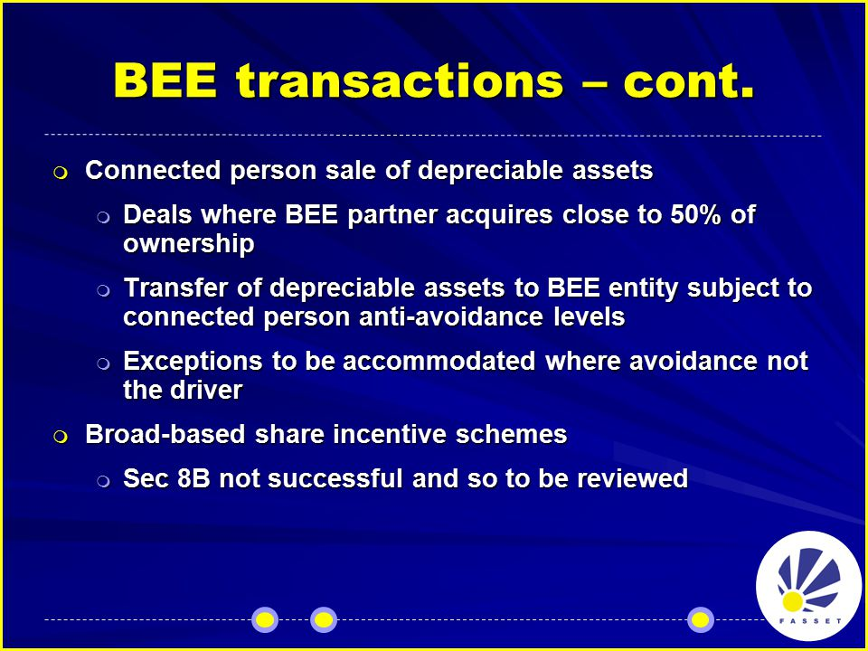 BEE transactions – cont.