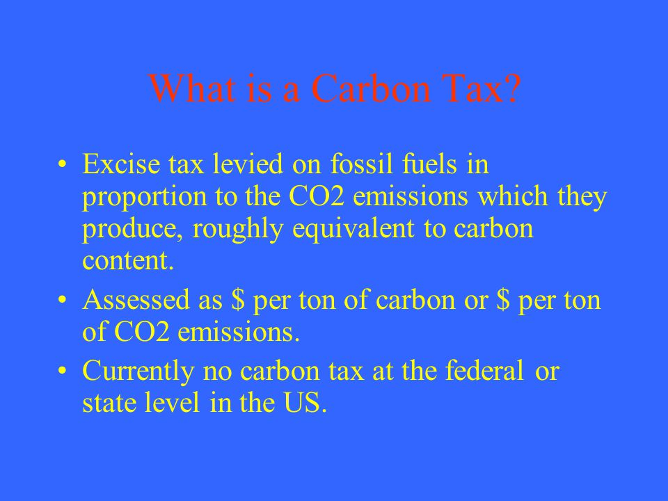 What is a Carbon Tax.