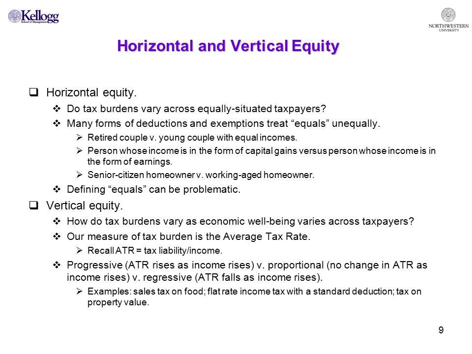 10 Efficiency in taxation.Minimize excess burden.