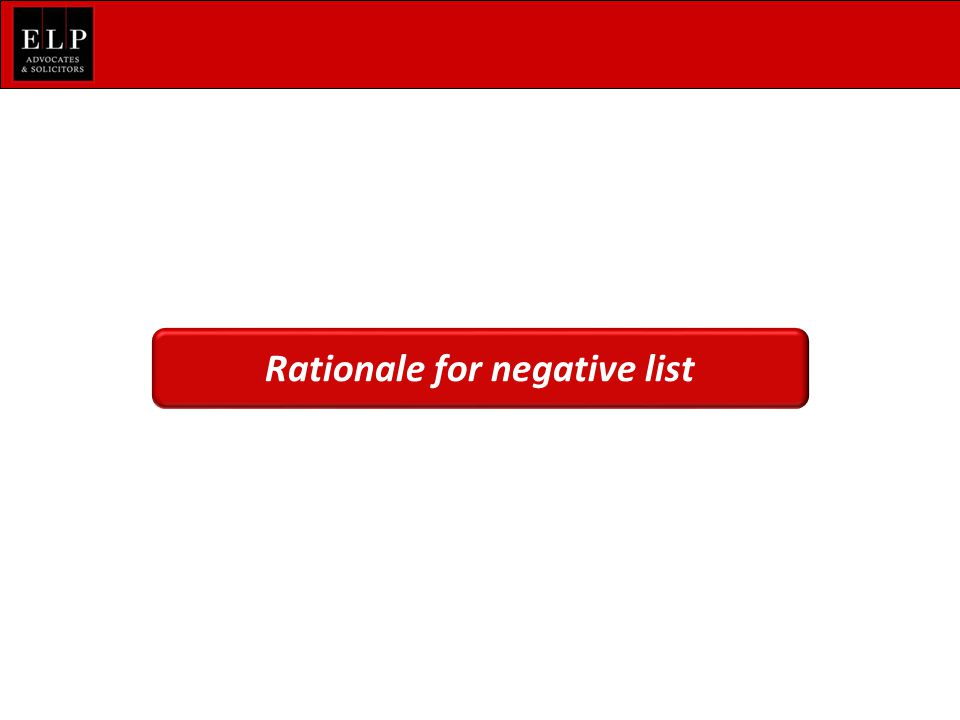 Rationale for negative list