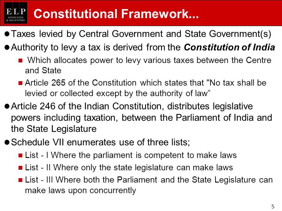 Constitutional Framework...