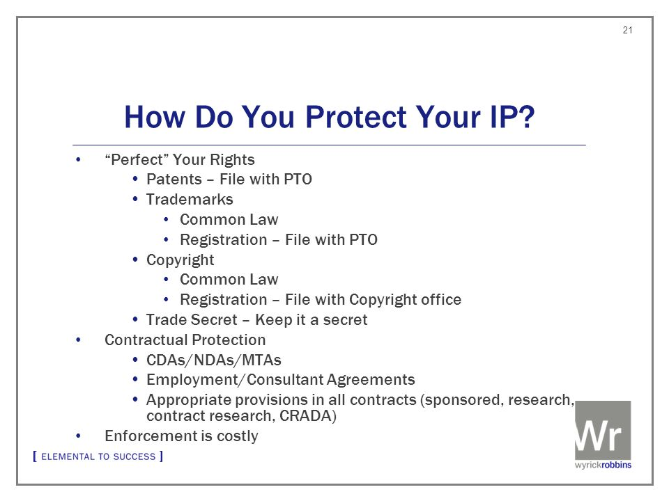 How Do You Protect Your IP.