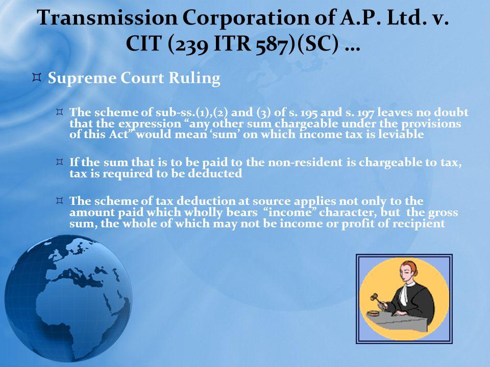 Transmission Corporation of A.P. Ltd. v.