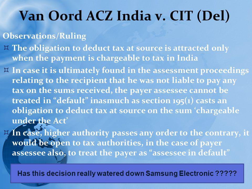 Van Oord ACZ India v.