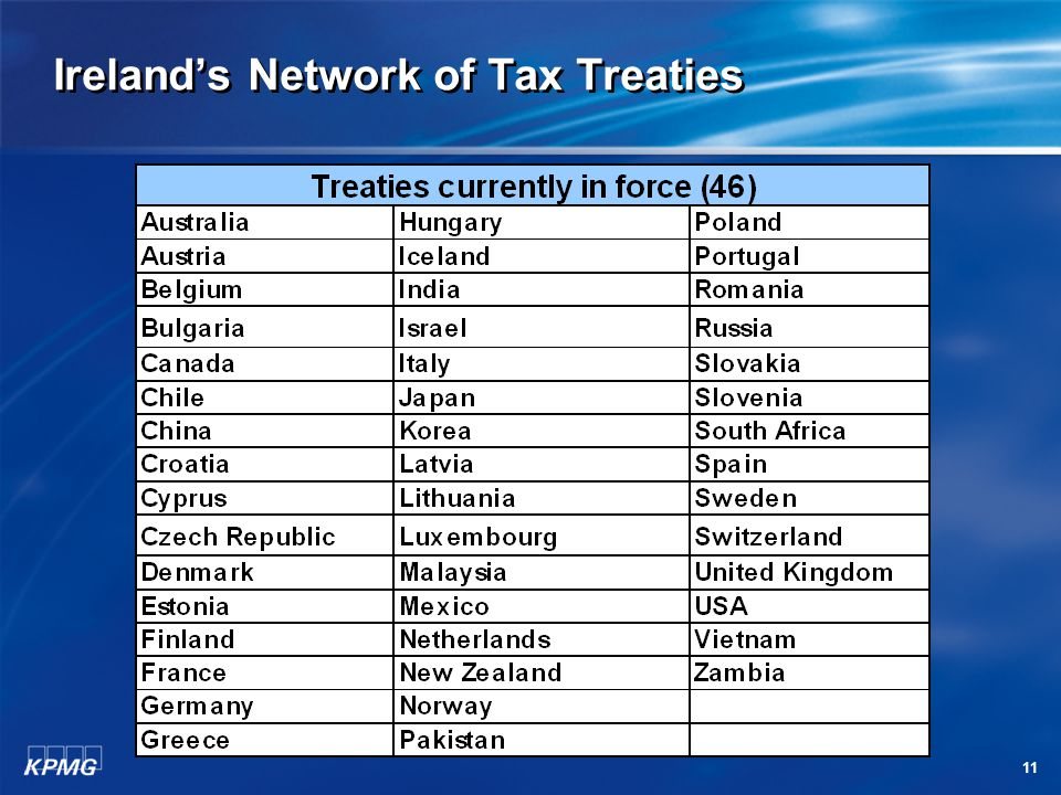 11 Ireland's Network of Tax Treaties