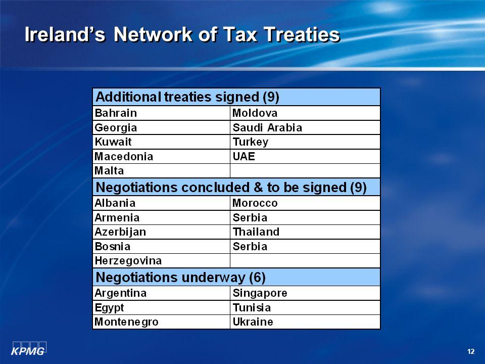 12 Ireland's Network of Tax Treaties